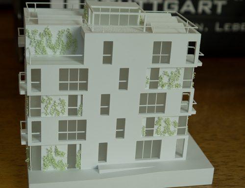 Modellbaukunst für unsere Wettbewerbsbeiträge: Bauabschnitt 2 am Neckarbogen | Heilbronn