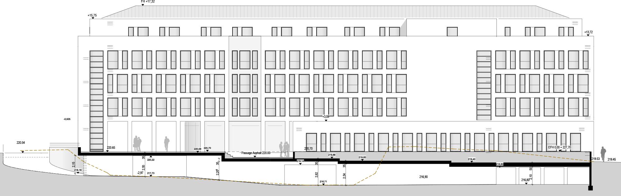 Referenz PlanQuadrat | Ansicht des Motel One in Badstraße, Stuttgart